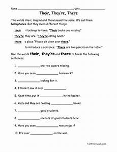 worksheet there they re their elem by abcteach