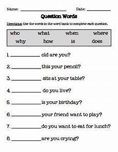 question words pdf english grammar worksheets learn english speech language