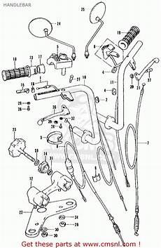 honda ct 70 k3 clutch assembly diagram honda ct70 trail 70 k1 1972 usa handlebar schematic partsfiche