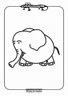 easy animals coloring pages 16976 elephant simple coloring animals easy coloring animals for toddlers