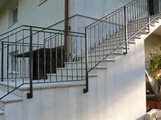 ringhiera per scala esterna ringhiere scale in acciaio s m a serramenti