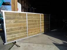 deck 40 portails sur mesure en acier galvanis 233 et bois