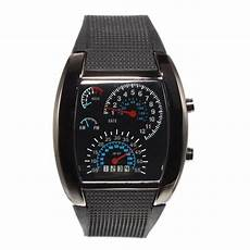 Sports Car Watches by New Sports Rpm Turbo Blue Flash Led Car Speedometer Meter