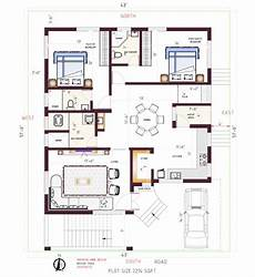 vastu house plan for south facing plot east facing plan south facing plot best 2bhk plan see
