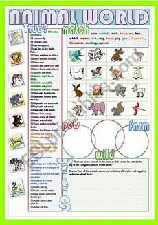 animal world worksheets 14372 animal world esl worksheet by nuria08