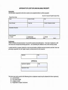 lost receipt template free 4 lost receipt forms in sles exles format