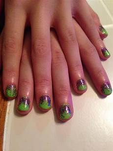 lime green nails glitter nail art green nails lime