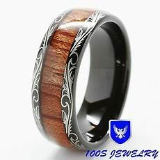mens tungsten carbide wedding band ring inlay comfort fit size 6 16 half ebay