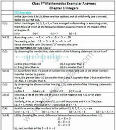 worksheets for class 7 cbse with answers 19156 cbse class 7 mathematics integers exemplar solutions