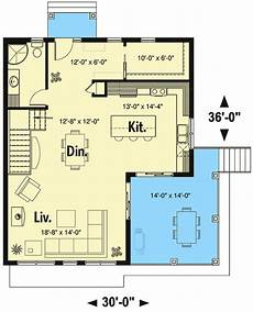 sloped lot house plans plan 22522dr modern vacation home plan for the sloping