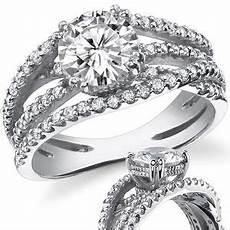 multi band moissanite engagement ring diamond ring engagement rings pink wedding