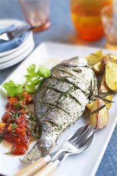 simple italian style whole roast fish in herbs
