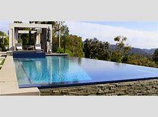 Beverly Hills Vanishing Edge Pool Design with Custom Tile