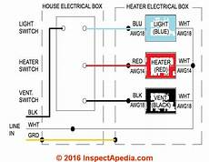 Wiring Fan Heater In Bathroom by Guide To Installing Bathroom Vent Fans