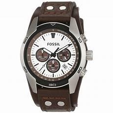 fossil herrenuhr ch2565 braun weisser herrenchronograph