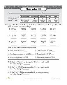 what is place value worksheets 5150 image result for place value worksheets 4th grade pdf teaching place values place values