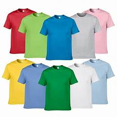summer style high quality 100 cotton solid color t shirt