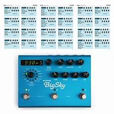 big sky reverb strymon big sky reverb pedal settings presets sound affects premier
