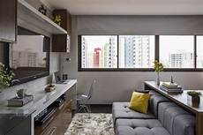 30 Square Meter Apartment Brazil Practical Layout Comfortable Interior 30 sqm apartment in brazil with a practical layout and a