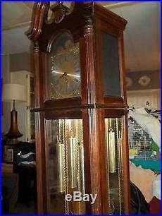 grandfather clock howard miller windsor cherry westminster