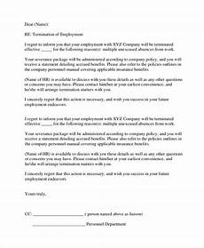 sle employment termination letter 7 documents in pdf word