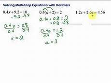 decimals equations worksheet 7116 lesson 7 3 solving multi step equations with decimals