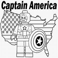 Malvorlagen Lego Superheroes Printable Lego Marvel Superheroes Captain America Coloring