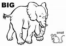 small animals coloring pages 17154 big large small comparatives adjectives elephant mouse esl grammar vocabulary pela