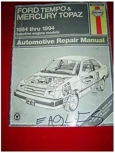 what is the best auto repair manual 1984 volkswagen jetta on board diagnostic system ford tempo mercury topaz 1984 1994 gasoline engine models auto repair manual ebay