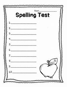 blank spelling worksheets for grade 1 22688 blank spelling test 20 questions by the state tpt