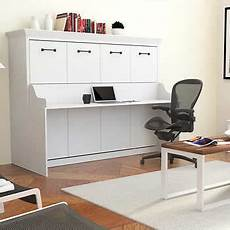 Melbourne Wall Bed W Desk Combo White
