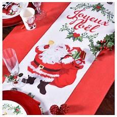 chemin de table de noel chemin de table joyeux no 235 l intiss 233 5 m d 233 coration table
