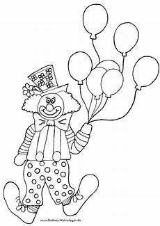 Malvorlagen Geburtstag Clown Bunter Clown Mit Luftballons Nadines Ausmalbilder