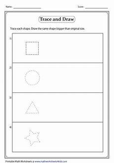 drawing shapes worksheets 1081 big and small worksheets