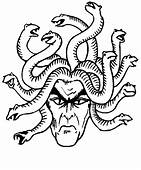 Medusa Head Coloring Page  Free Printable Pages