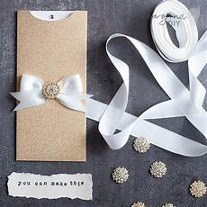 how to make striking glittery wallet invitations diy