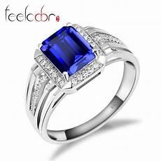 aliexpress com buy gem stone jewelry blue sapphire wedding engagement ring for men genuine