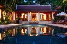 Three Spectacular Thai Villas villa sereniti luxury thai villa phuket surin