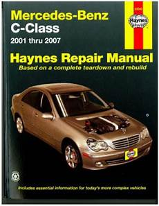 how to download repair manuals 2007 mercedes benz cls class seat position control 2001 2007 mercedes benz c class haynes automotive repair