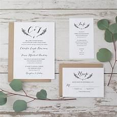 Sle Wedding Invitation Format sale rustic wedding invitation template printable wedding