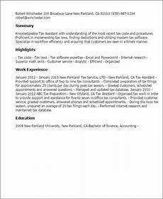 professional tax assistant templates to showcase your talent myperfectresume