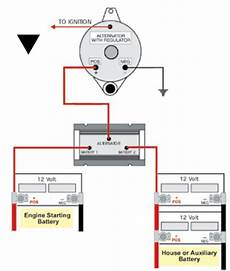 wiring diagram for a battery isolator typical battery isolator circuits arco