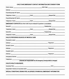 free 11 emergency contact forms in pdf ms word