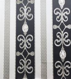 barock tapete schwarz hermitage 8 barock satin tapete 8913 34 891334 schwarz