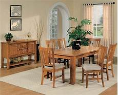 esstisch holz hell oak finish casual dining table w optional chairs