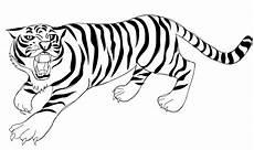 Gambar Mewarnai Kartun Harimau Belajarmewarnai Info