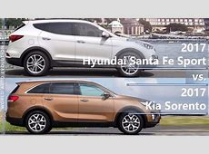 2017 Hyundai Santa Fe Sport vs 2017 Kia Sorento (technical