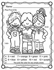 create color by number worksheets 16101 back to school color by number addition kindergarten math classroom activities math addition