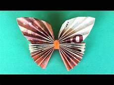 geldscheine falten hochzeit geldscheine falten schmetterling geldgeschenke basteln