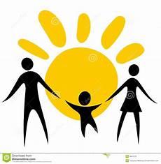 Familie Symbol - family symbol stock vector illustration of together
